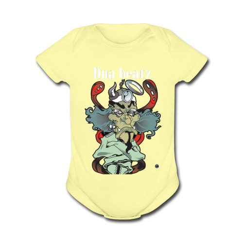 dna beatz logo png - Organic Short Sleeve Baby Bodysuit