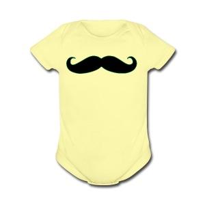 MUSTACHE - Short Sleeve Baby Bodysuit