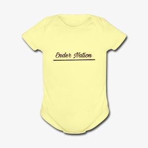 Underlined logo - Short Sleeve Baby Bodysuit