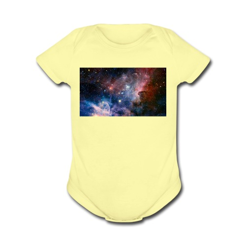 galaxy - Organic Short Sleeve Baby Bodysuit