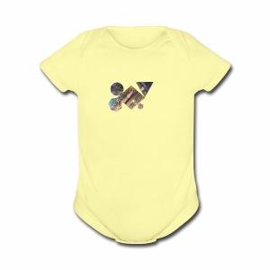 drum shapes - Short Sleeve Baby Bodysuit