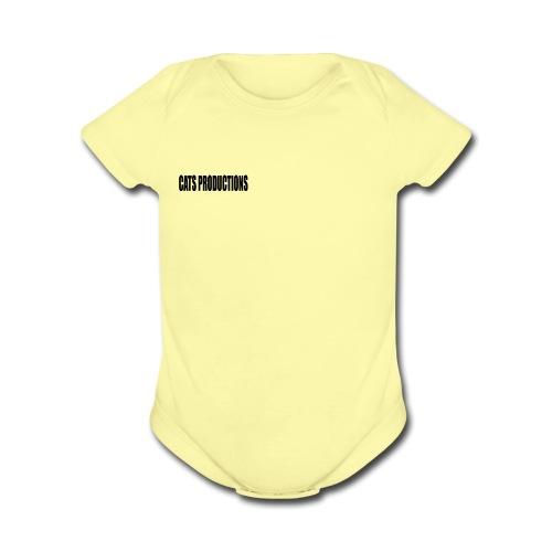 CATS PRODUCTIONS - Organic Short Sleeve Baby Bodysuit