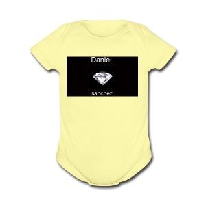 daniel merch - Short Sleeve Baby Bodysuit
