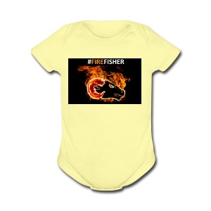 Fire_Fisher - Short Sleeve Baby Bodysuit