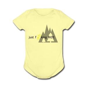Mountain Biking JFR - Short Sleeve Baby Bodysuit