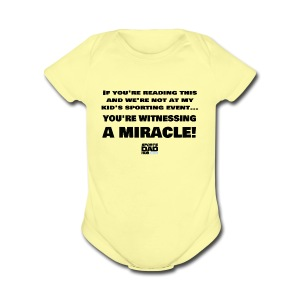 Witnessing A Miracle - Short Sleeve Baby Bodysuit