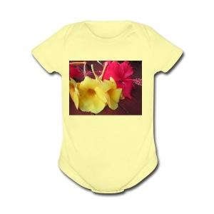 Exotic Flowers - Short Sleeve Baby Bodysuit