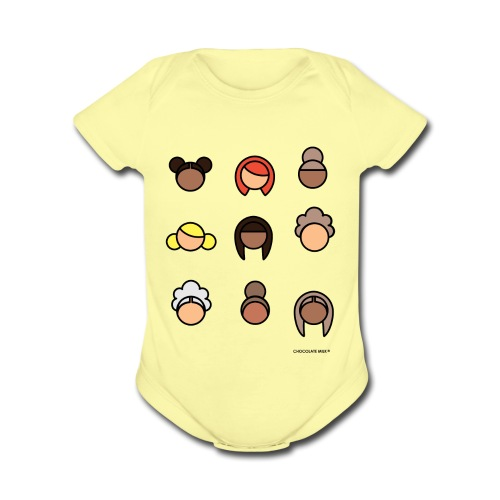 CHOCOLATE MILK Ladies - Organic Short Sleeve Baby Bodysuit