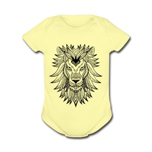 Lion - Short Sleeve Baby Bodysuit