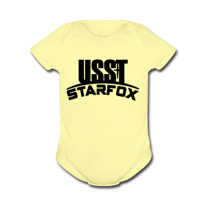 USST STARFOX Text - Short Sleeve Baby Bodysuit
