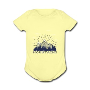 Adventure Mountains T-shirts and Products - Short Sleeve Baby Bodysuit