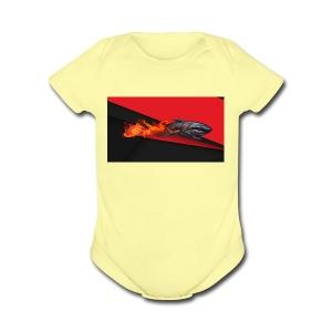 warface_black_shark - Short Sleeve Baby Bodysuit