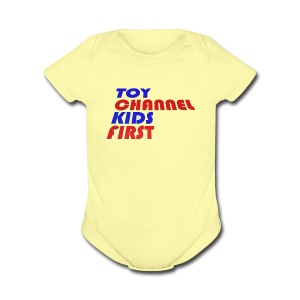 TOY CHANNEL KIDS FIRST - Short Sleeve Baby Bodysuit