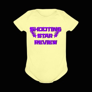 Shooting Star Review Purple Logo - Short Sleeve Baby Bodysuit