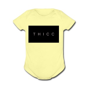 T H I C C T-shirts,hoodies,mugs etc. - Short Sleeve Baby Bodysuit