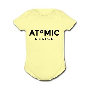 Atomic Design Brand Logo - Short Sleeve Baby Bodysuit