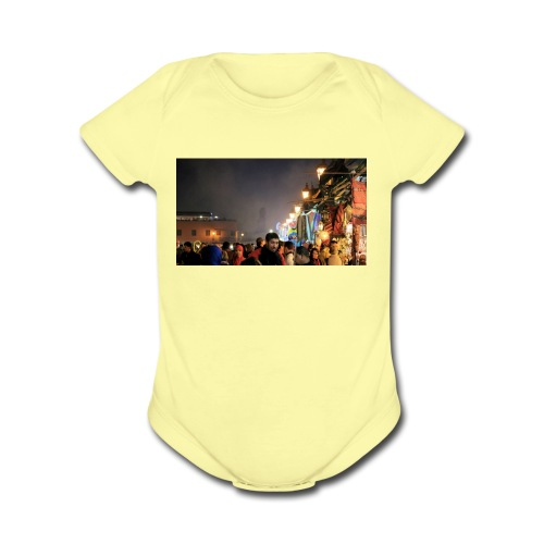 Marrakech at Night - Organic Short Sleeve Baby Bodysuit