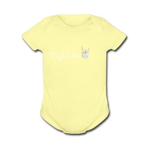 Fight me boii 1 - Organic Short Sleeve Baby Bodysuit