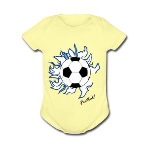 football - Short Sleeve Baby Bodysuit