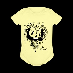 cubico skull - Short Sleeve Baby Bodysuit