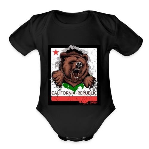 California Bear - Organic Short Sleeve Baby Bodysuit