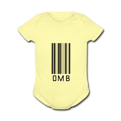 Omb-barcode - Organic Short Sleeve Baby Bodysuit