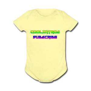 Cool Intros With Subscribe - Short Sleeve Baby Bodysuit