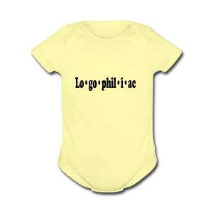 logophiliac - Short Sleeve Baby Bodysuit