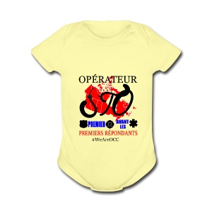 Operateur STO plus size - Short Sleeve Baby Bodysuit