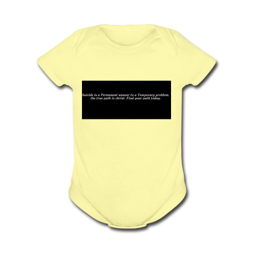 find hope - Organic Short Sleeve Baby Bodysuit