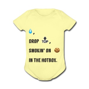 Raindrop - Short Sleeve Baby Bodysuit