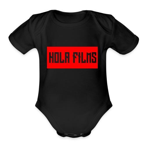 OfficialHolaDesign1 - Organic Short Sleeve Baby Bodysuit