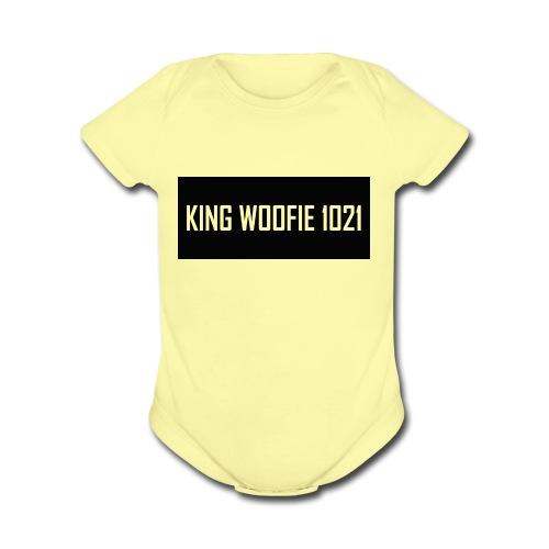 Woofie Logo - Organic Short Sleeve Baby Bodysuit