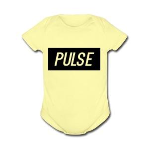 Pulse box logo - Short Sleeve Baby Bodysuit
