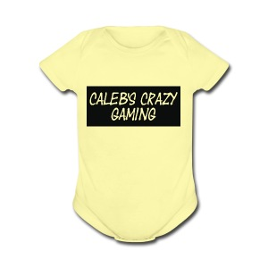 caleb's first shirt - Short Sleeve Baby Bodysuit