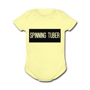 Spinning Tuber's Design - Short Sleeve Baby Bodysuit