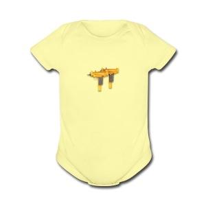 uzicalls logo - Short Sleeve Baby Bodysuit