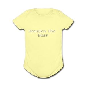 Brendyn The Boss - Short Sleeve Baby Bodysuit