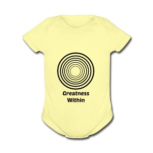 Greatness Within - Short Sleeve Baby Bodysuit