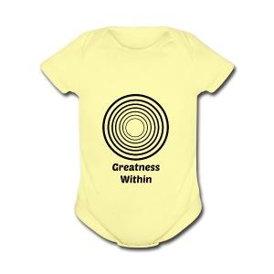 Greatness Within - Short Sleeve Baby Bodysuit