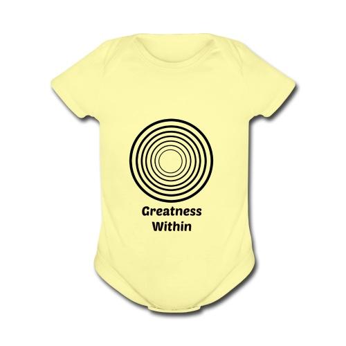 Greatness Within - Organic Short Sleeve Baby Bodysuit