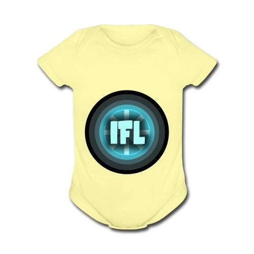 Logo Looper - Organic Short Sleeve Baby Bodysuit