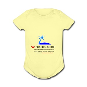 beachologist - Short Sleeve Baby Bodysuit