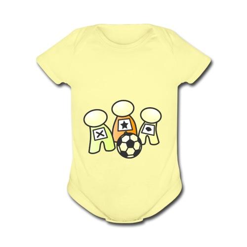 Logo without text - Organic Short Sleeve Baby Bodysuit