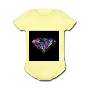 Diamondfashion - Short Sleeve Baby Bodysuit