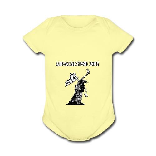 AIPACALYPSE Shirt - Organic Short Sleeve Baby Bodysuit