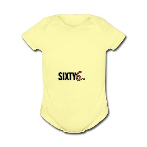 Sixty6Pocket - Organic Short Sleeve Baby Bodysuit