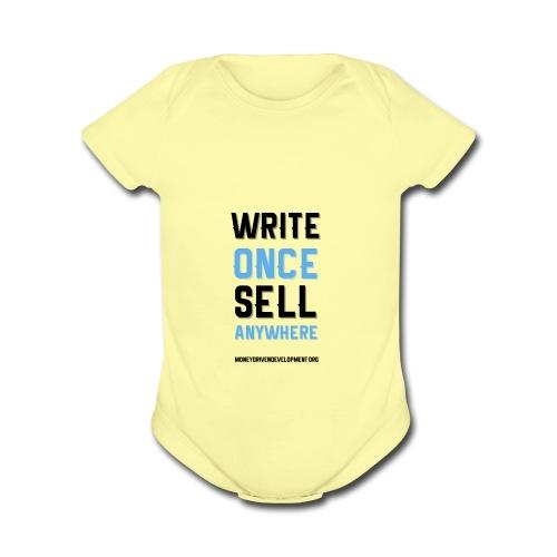 Write Once Sell Anywhere - Organic Short Sleeve Baby Bodysuit