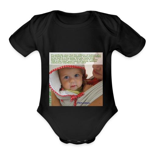 Liedlof - Pura Bebo Baby wearing - Octopus - Organic Short Sleeve Baby Bodysuit