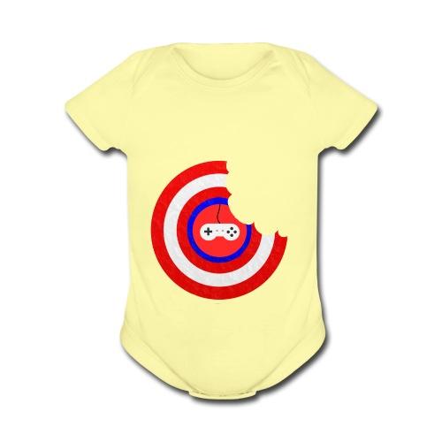 Captain Munch - Organic Short Sleeve Baby Bodysuit